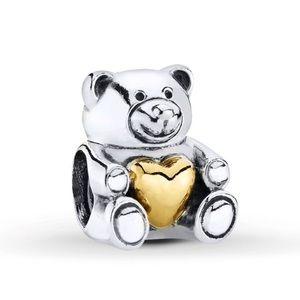 Pandora Bear My Heart Charm Teddy Bear Retired